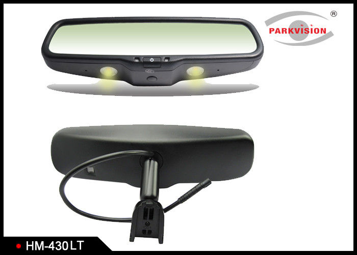 Specific Integrated Bracket Reversing Mirror Monitor With Dome Warm Lights